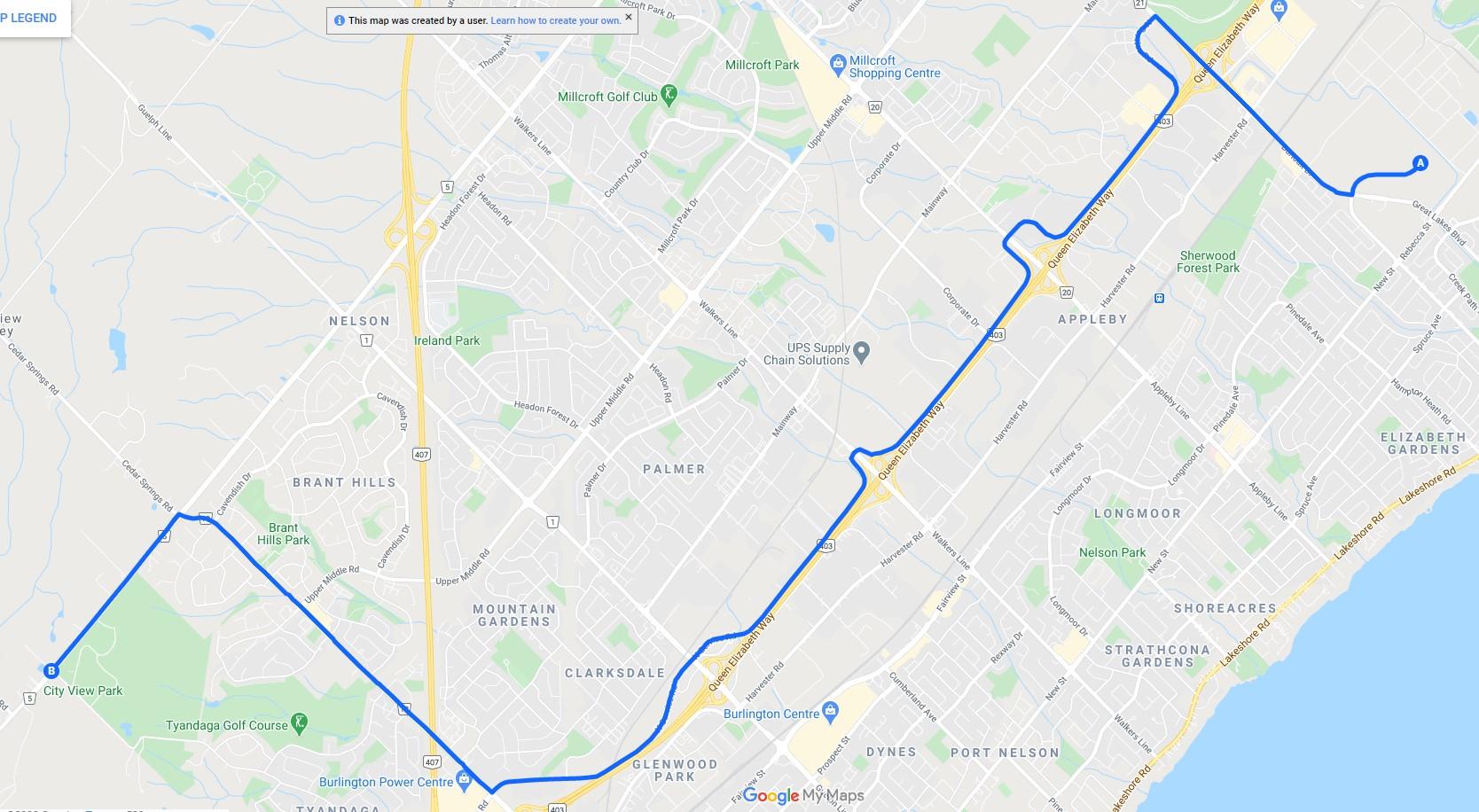 Superload route map