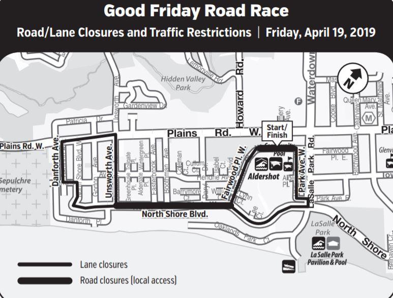 Good Friday Road Race Closure 2019
