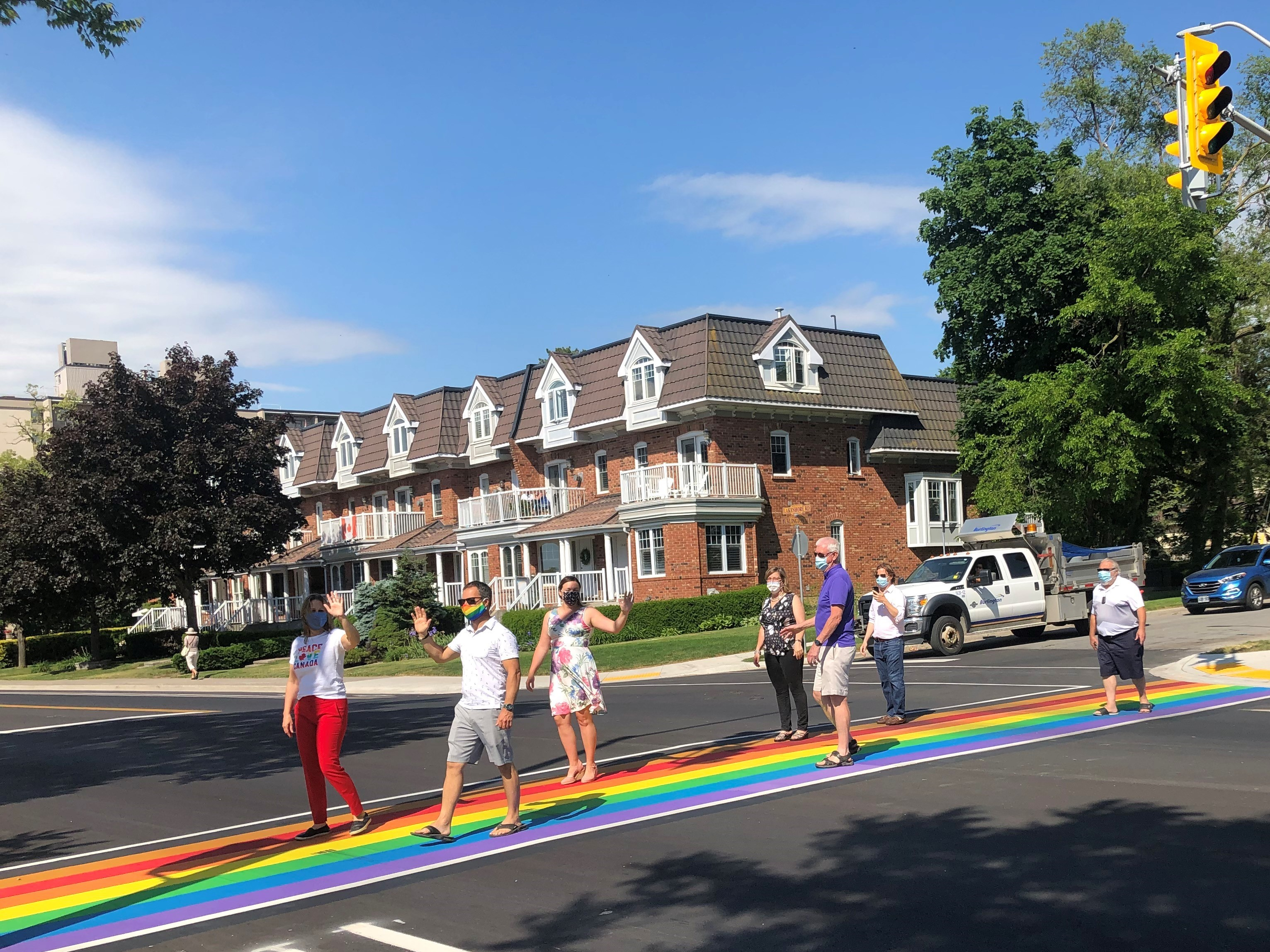 Rainbow crosswalk council