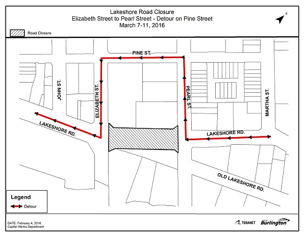 Detour Lakeshore Road