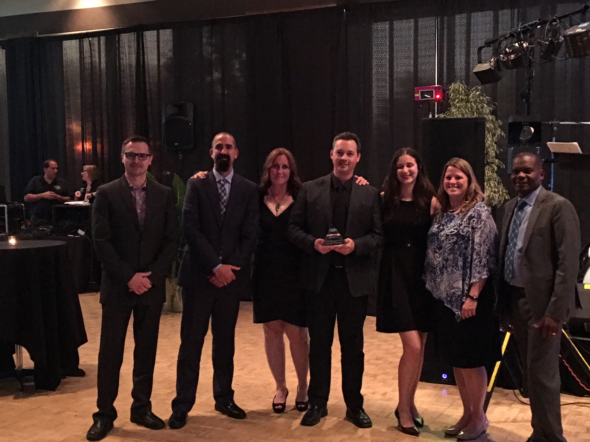 Staff from Capital Works and Finance accepted the CNAM Asset Management Ambassador Award on behalf of the City of Burlington.