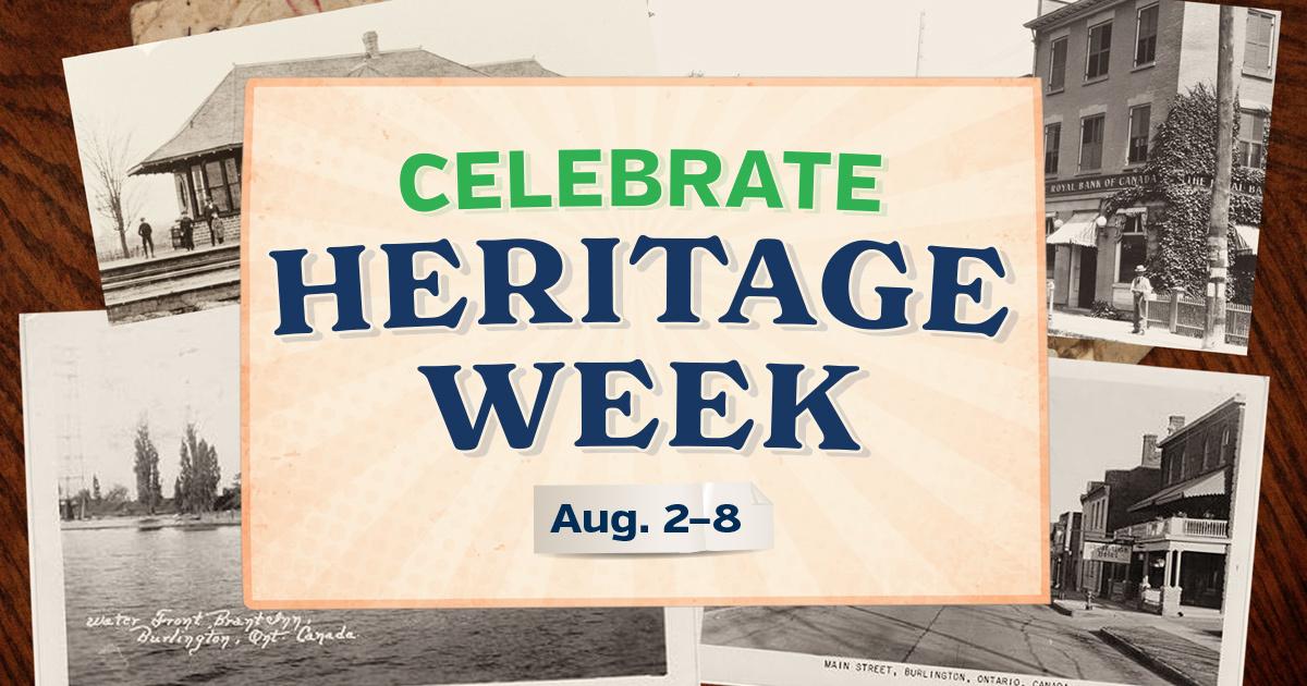 Take part in Heritage Week, Aug. 2 - 8