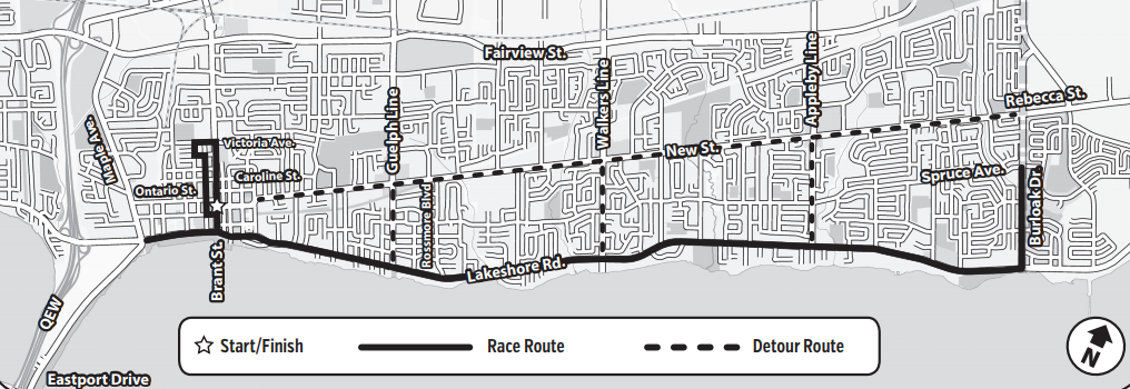 Chilly Half Marathon map