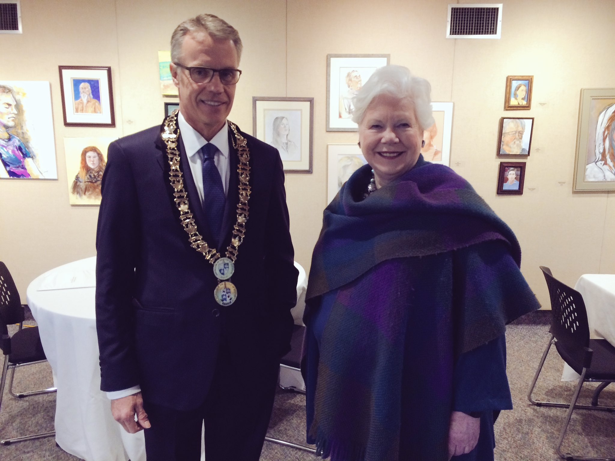 Mayor Goldring and Lieutenant Governor Dowdeswell